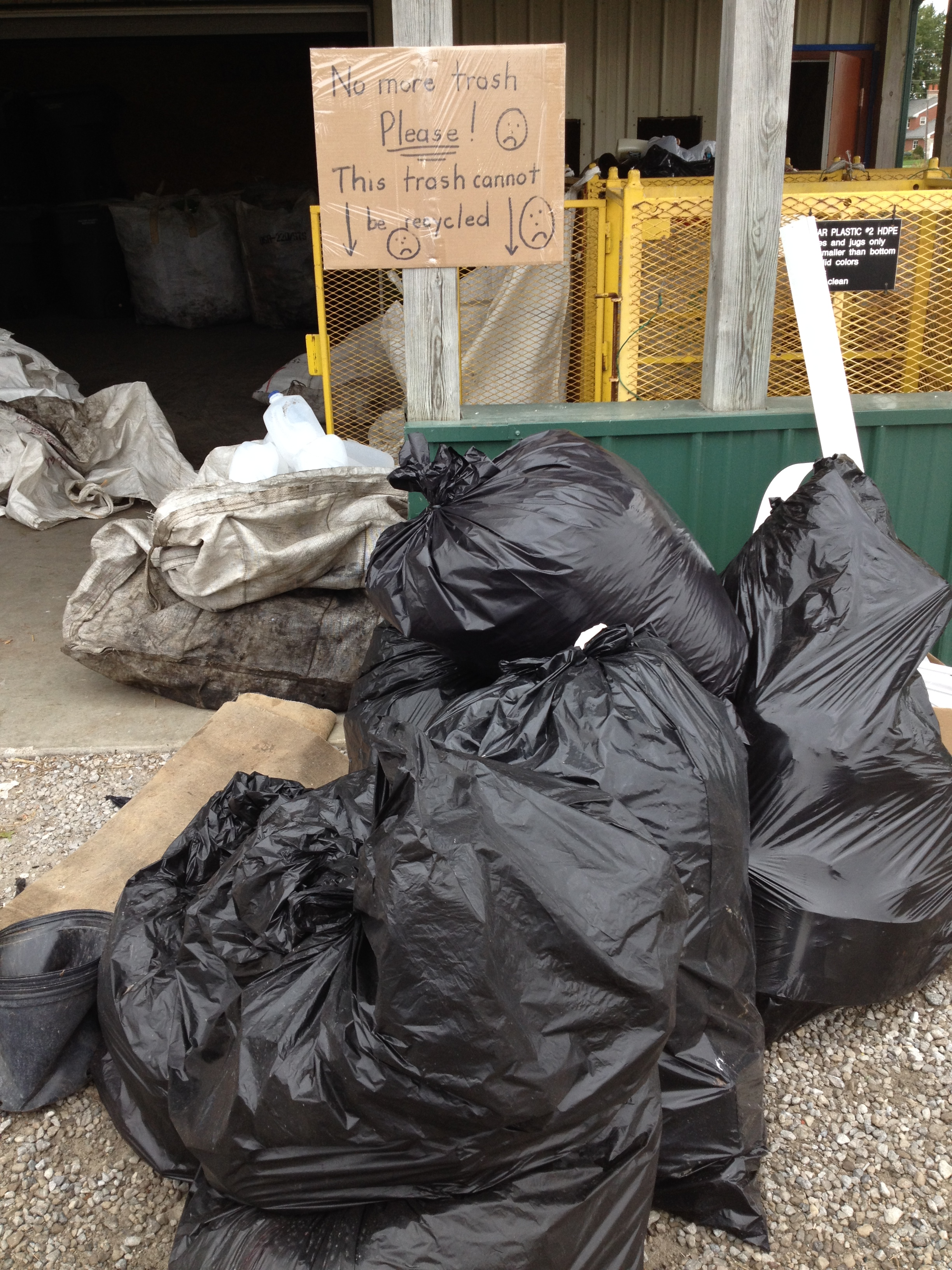 A photo of where NOT to put your trash.