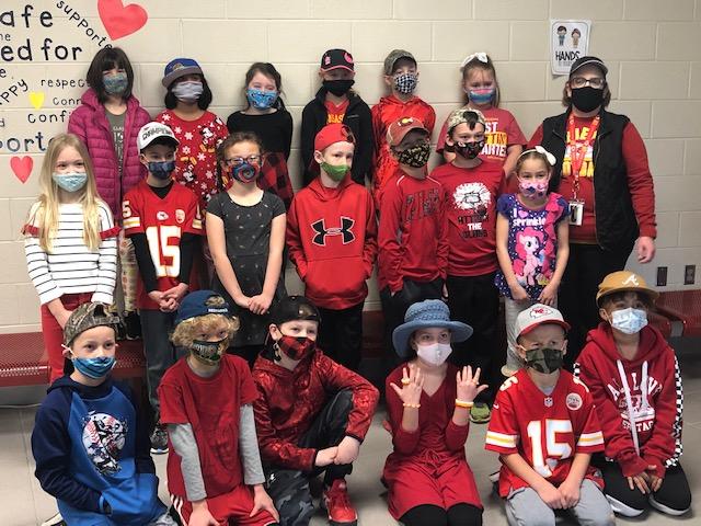 Kansas City Chiefs at the Elementary School!