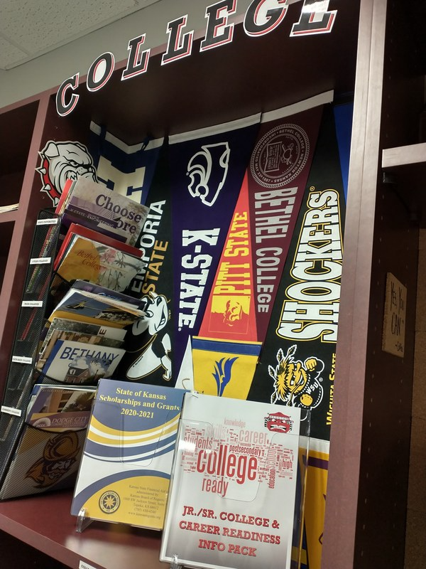 Stop by the G.O. to find information on TONS of 2year, 4year, and Tech Colleges!