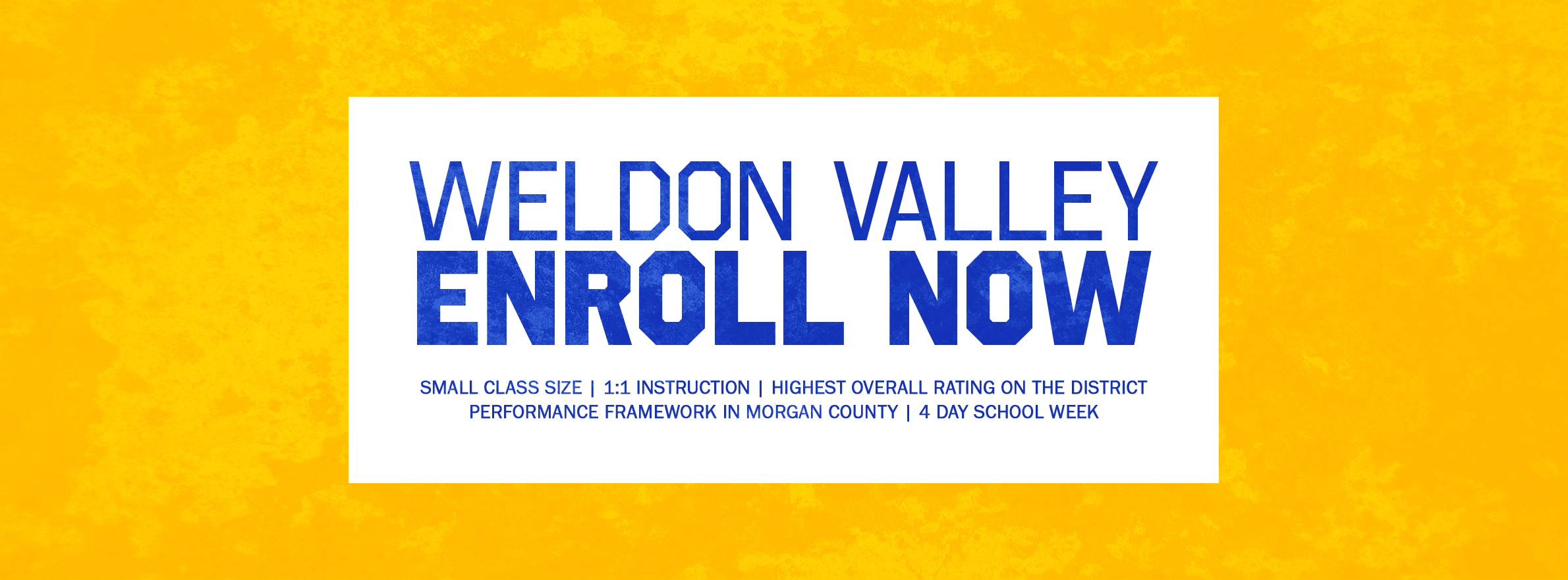 weldon valley enroll now