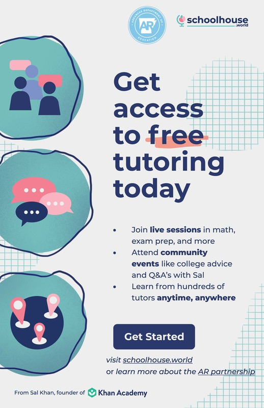 Get access to free tutoring today!
