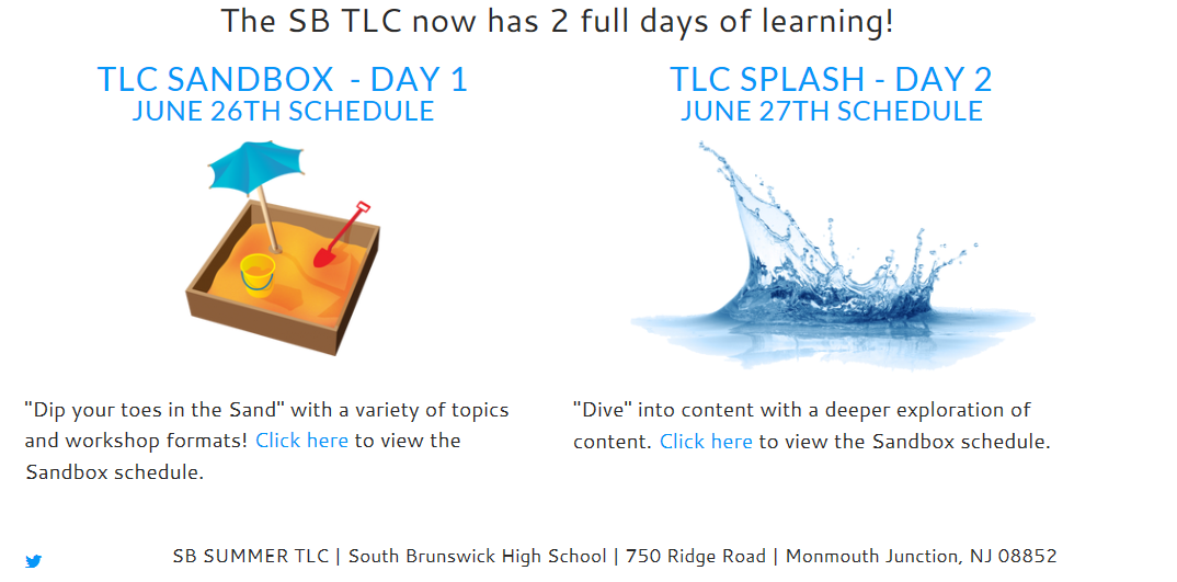 THE SB TLC NOW HAS 2 FULL DAYS OF LEARNING!