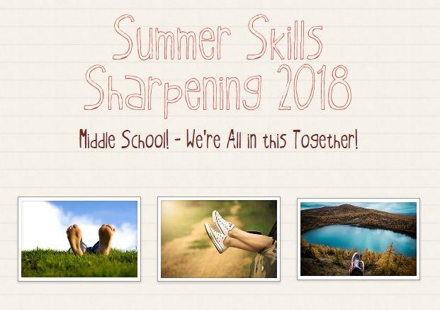 SUMMER SKILLS SHARPENING 2018