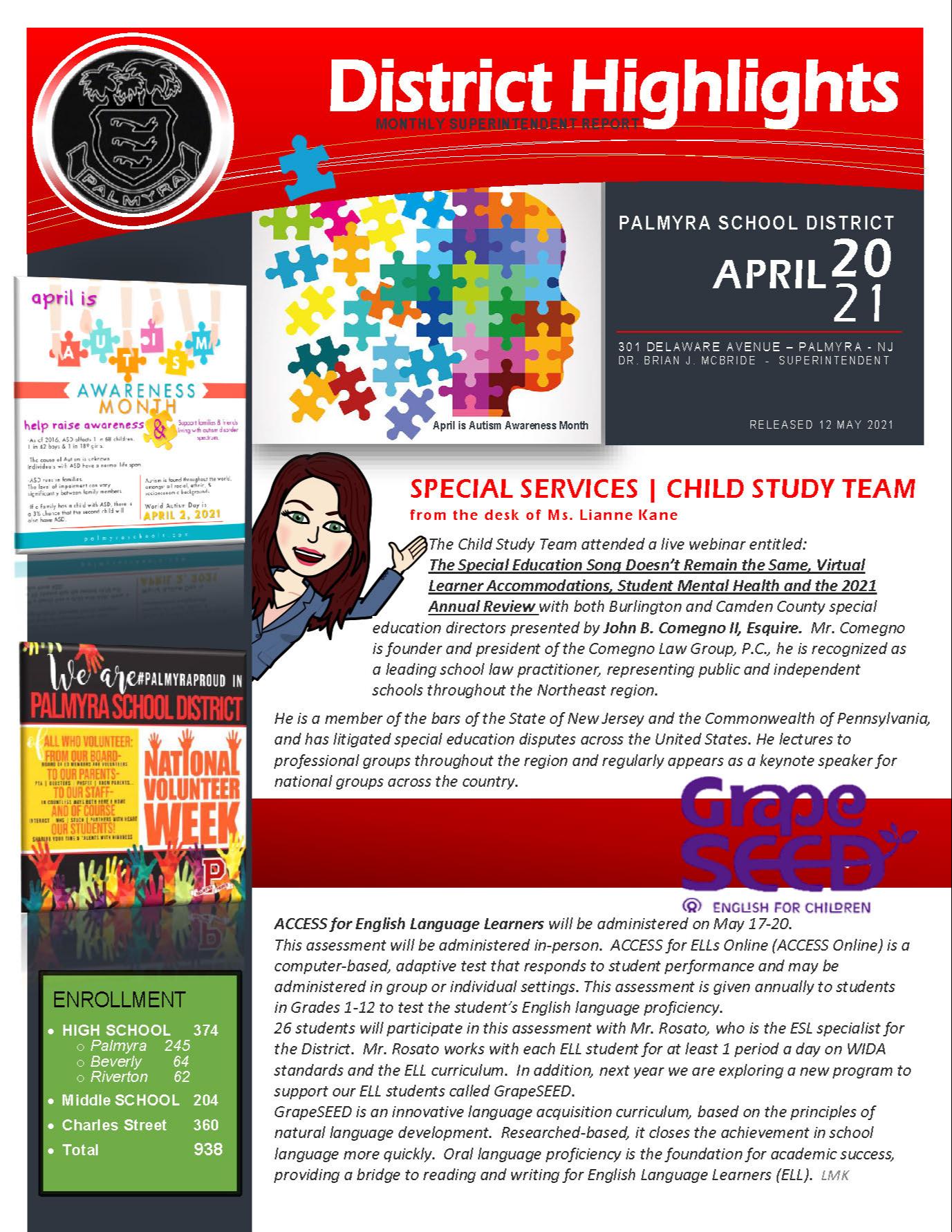Monthly Newsletter Cover Logo