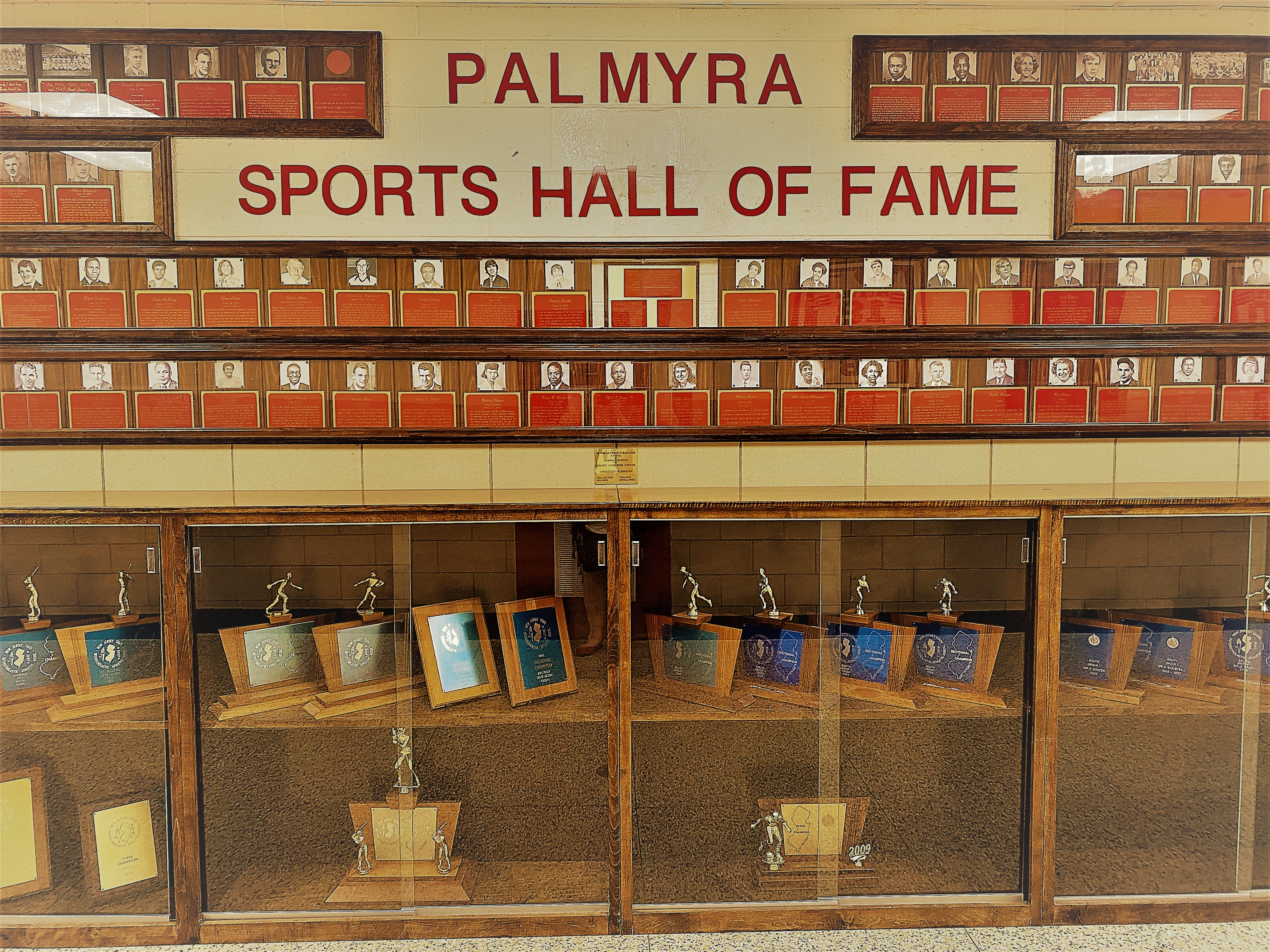Athletic Hall of Fame Wall