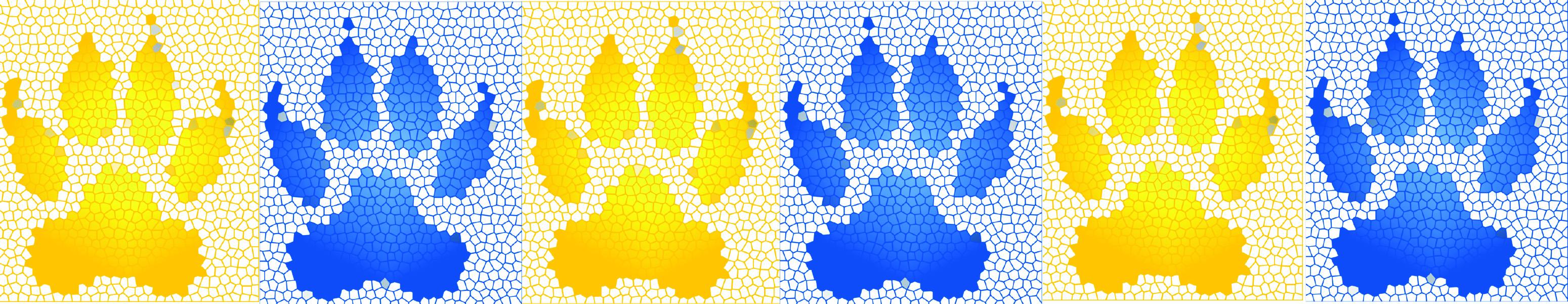 Mosaic paw prints
