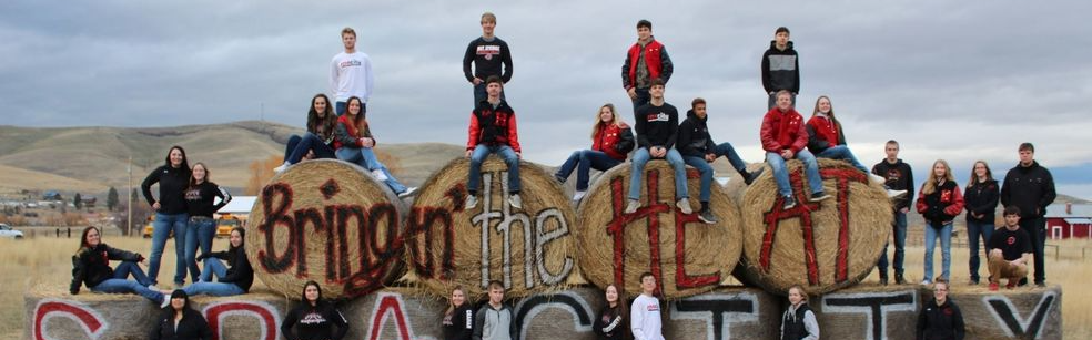 Students on Hay Bales