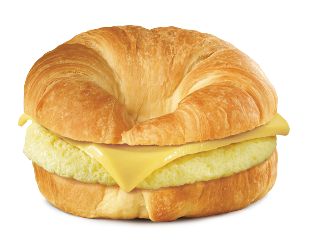 The photo of a croissant