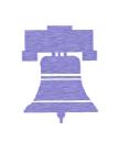 A purple bell