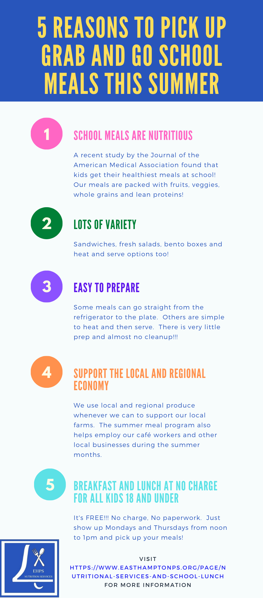 5 reasons to choose summer meals