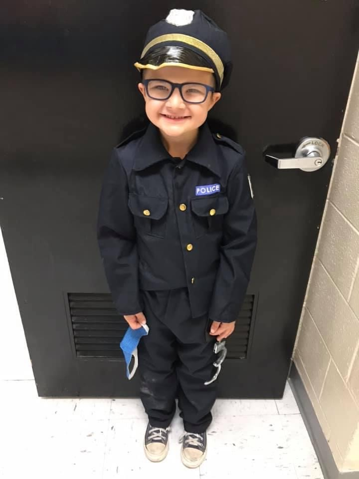 student dressed as a cop