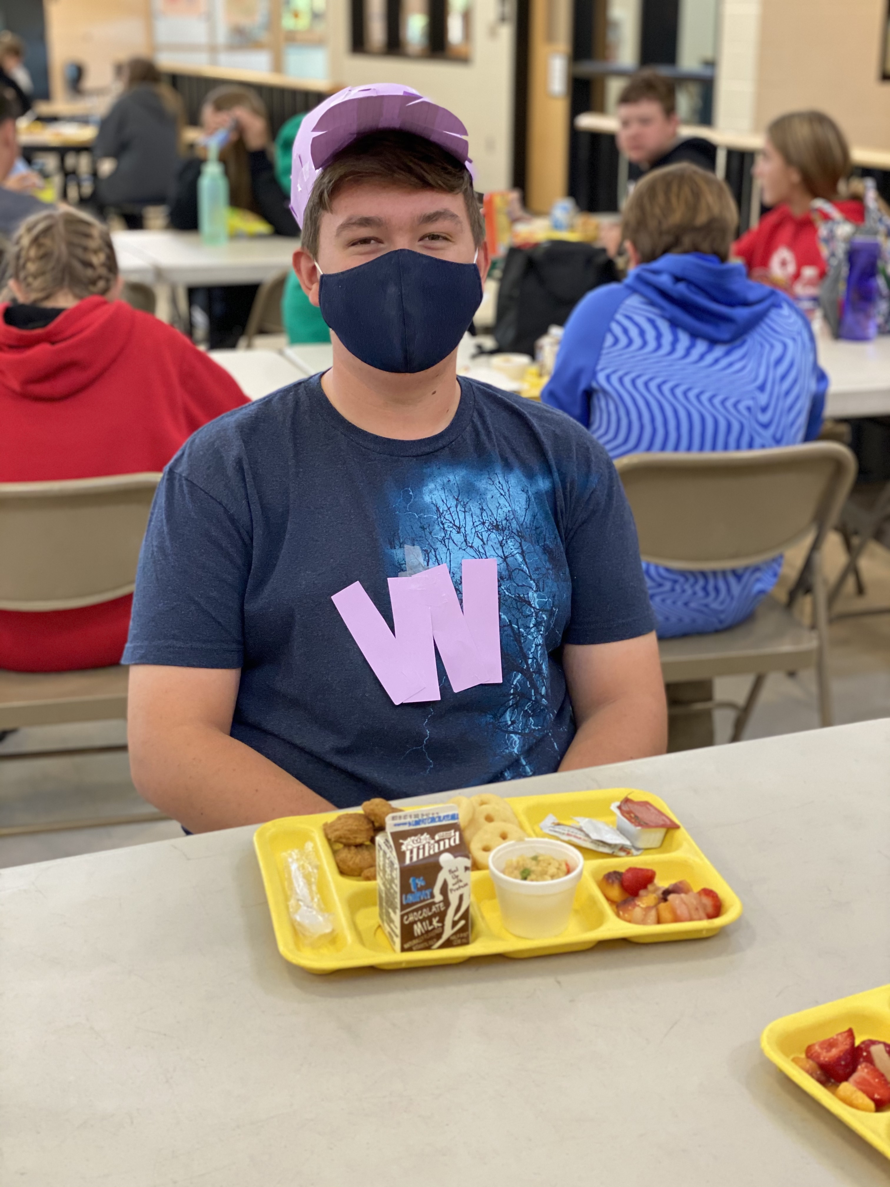 Student Eating Lunch