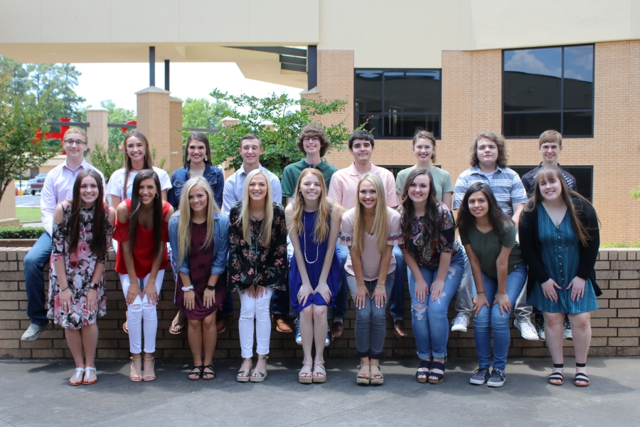 The Top Ten Percent students were recognized at the Academic Recognition Banquet May 23, 2019.