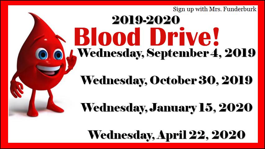 2019-2020 Blood Drive!