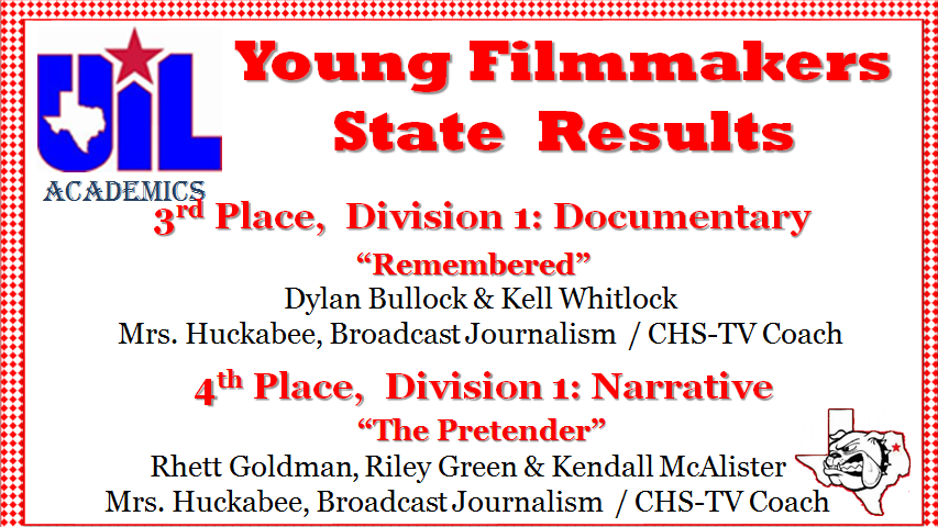 Young Filmmakers State Results