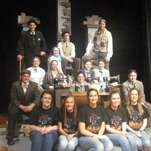 """2016 UIL Region III (4-A) Qualifying One-Act Play Company of """"The Shape of the Grave"""" by Laura Lungren Smith"""