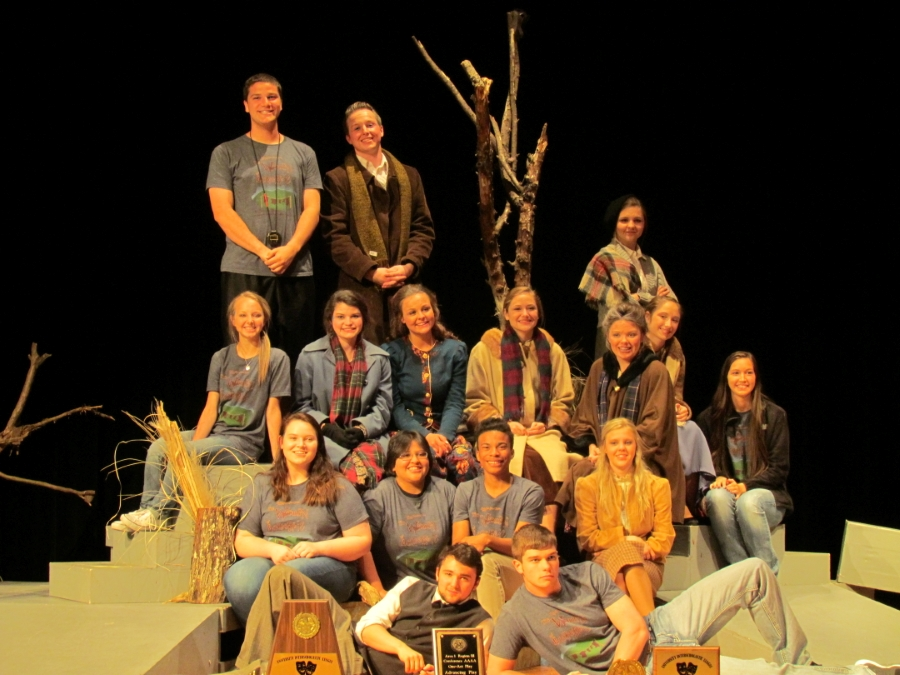 Carthage HS Theatre advanced from District to Area and from Area to the REGION III(3A) UIL One-Act Play Contest.