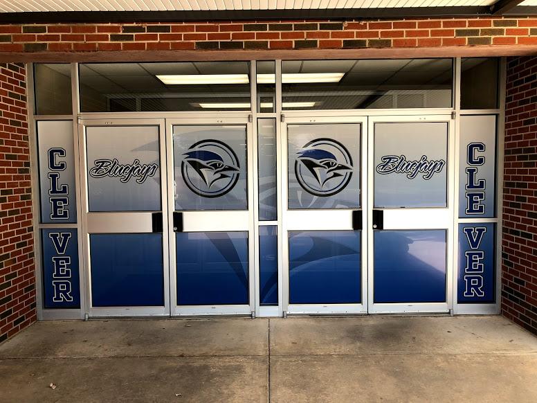Doors to middle school building