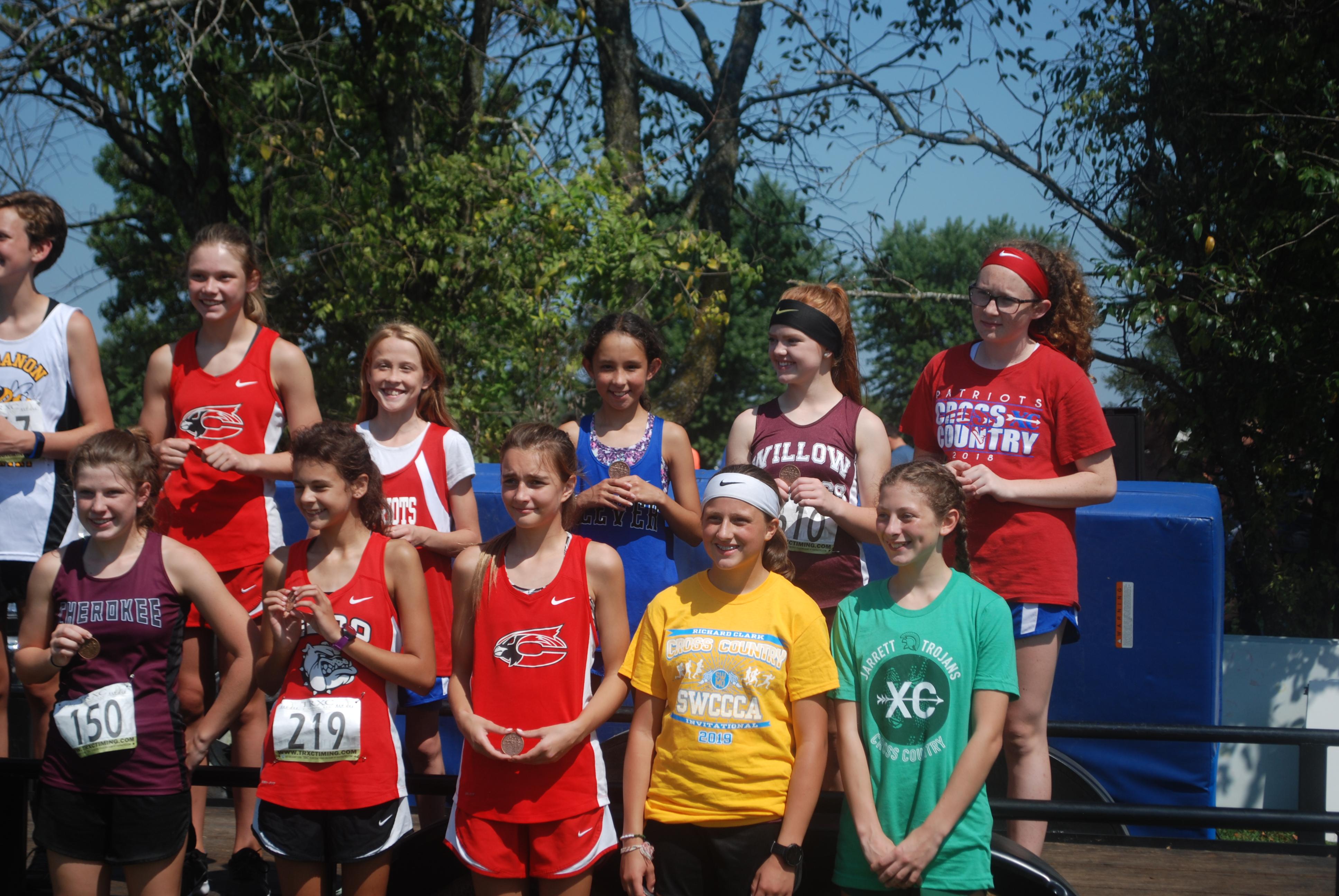 Girl's track team