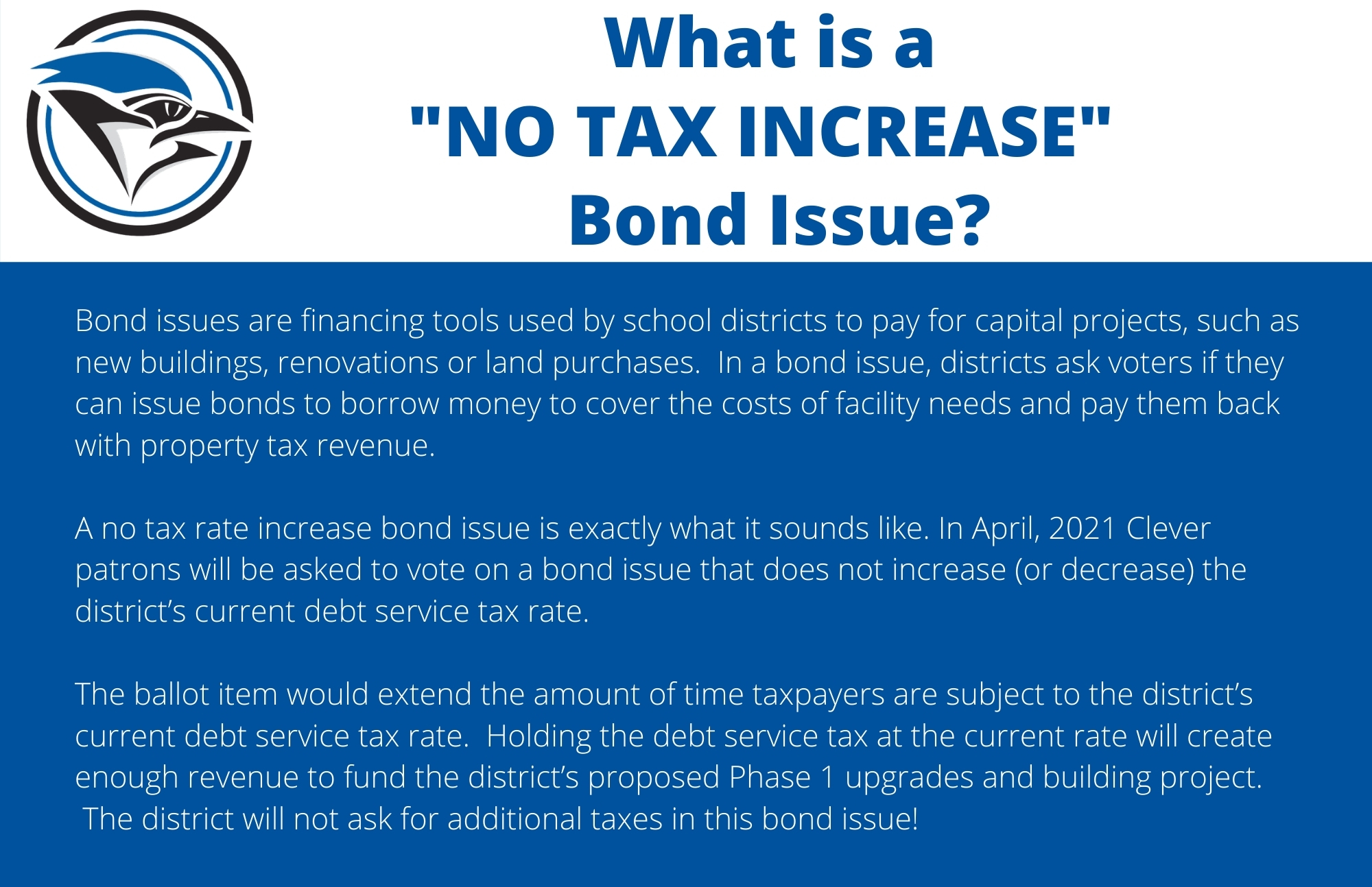 No Tax Increase Bond Issue