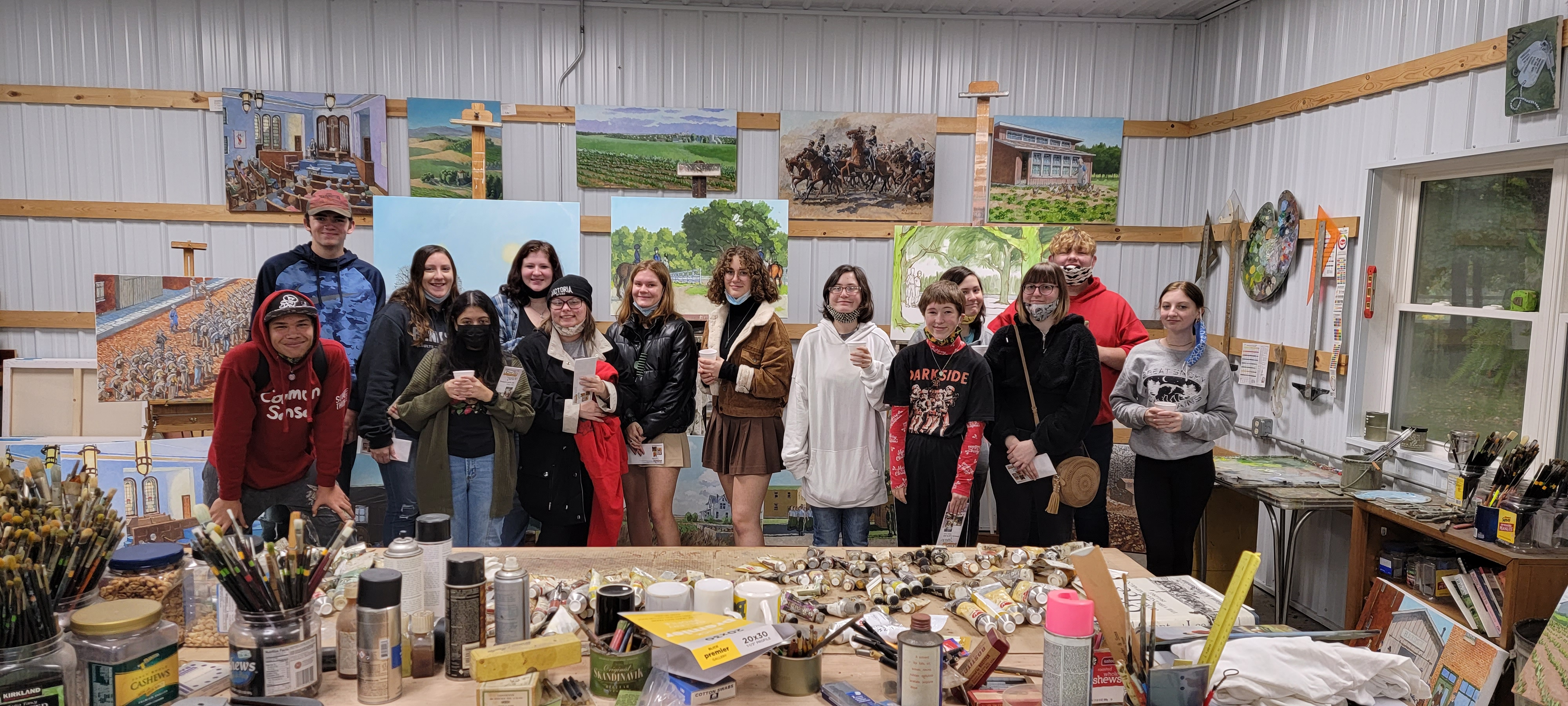 Another successful Northeast Iowa Studio Tour! This group asked great questions, spoke with the artists, and just were an all around great group to take. I'm so grateful for being able to do this. We teach the next generation to love art, support artists and hopefully add more to the world.
