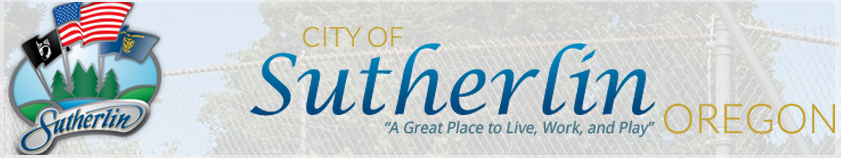 CITY OF SUTHERLIN OREGON