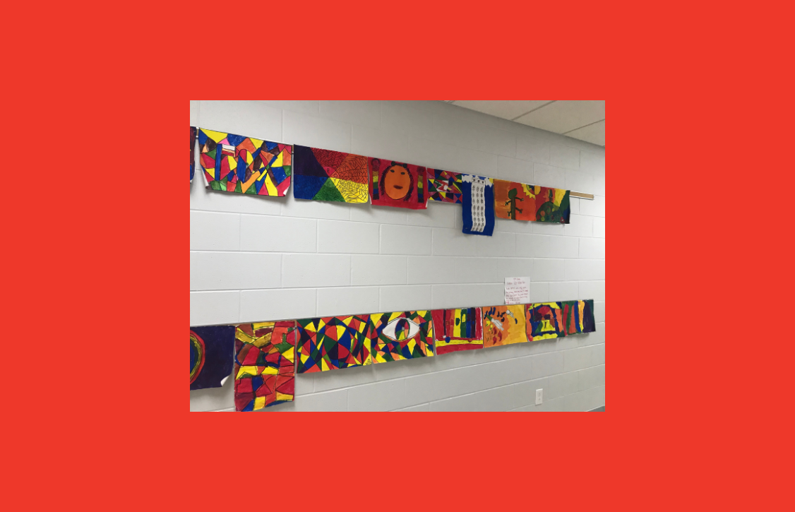 artwork in hallway