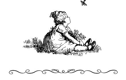 Image of a girl staring to a bird.
