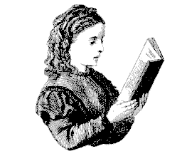 Image of a girl reading.