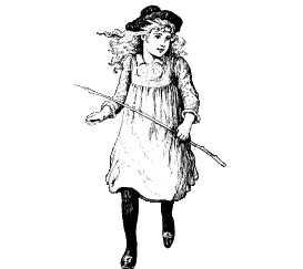 Image of a girl walking.