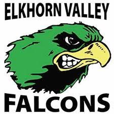 Elkhorn Valley Falcons logo