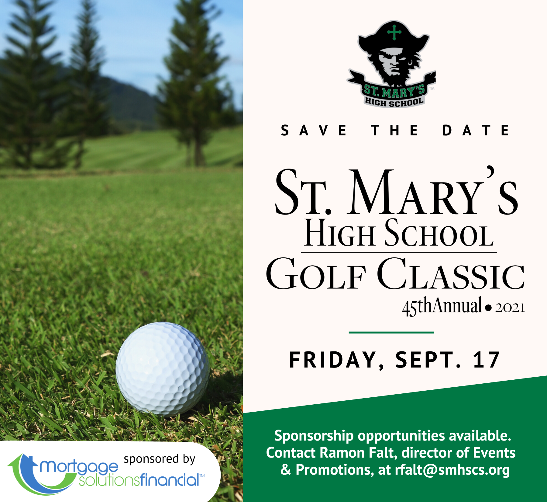 Save the Date : Golf Classic on Friday, September 18