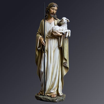 Jesus the Good Shepherd statue