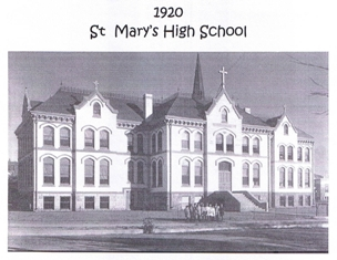 St. Mary's high school building in 1920