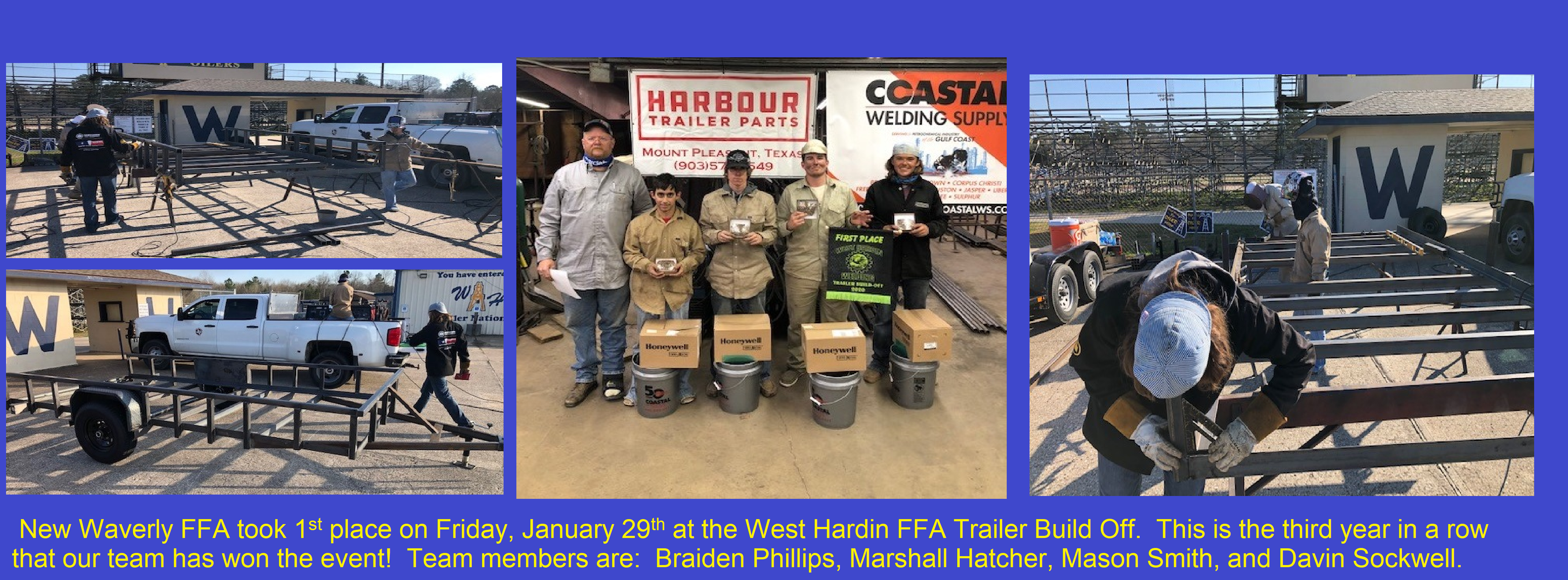 NWISD FFA wins West Hardin Trailer Build-Off 3 Years in a Row