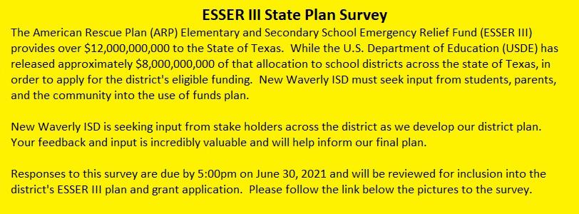 ESSER III State Plan Survey