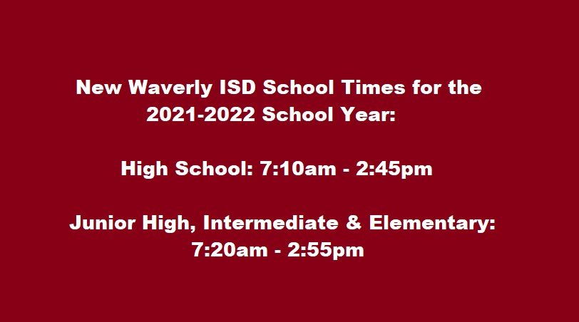 2021-2022 school times