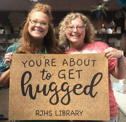Your're about to get hugged Library