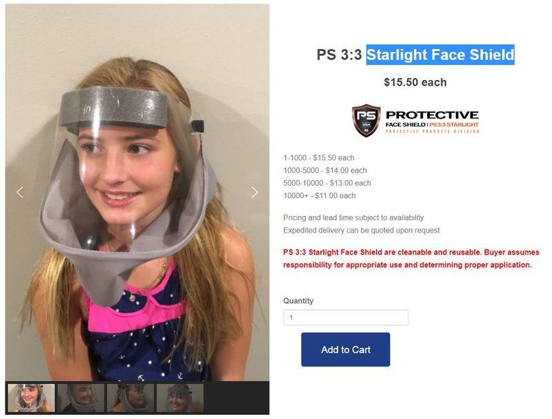 Starlight Face Shield