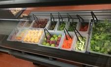 Photo of the salad bar.
