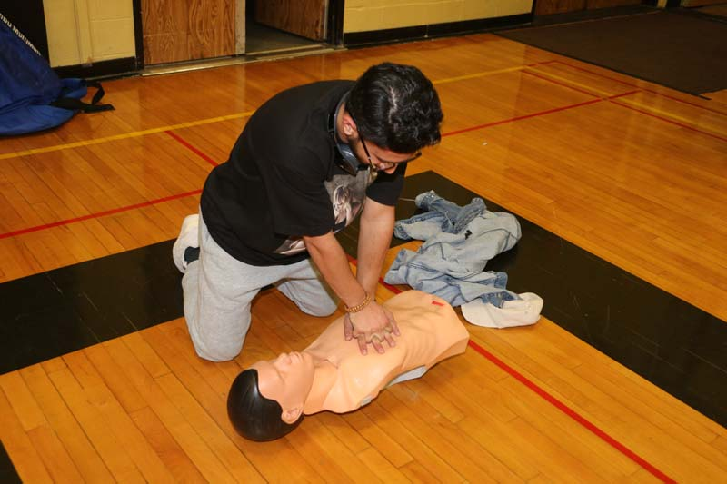Hands on CPR training photo