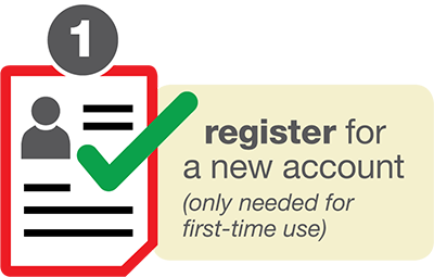 1. Register for a new account. (Only needed for first time use)