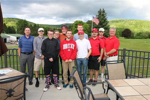 The Team and Alumni played their annual team scramble prior to the Awards Banquet.