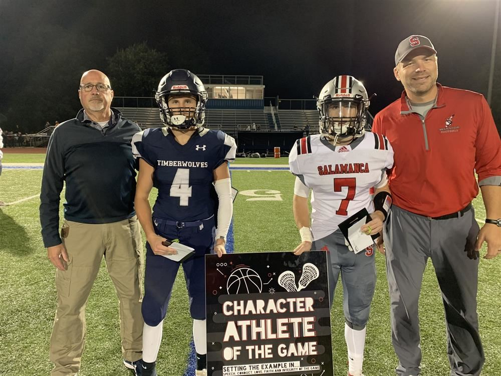 Congratulations to Jarrett McKenna from Salamanca who was named Character Athlete of the Game.