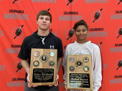 Male and Female Athlete's of the Year