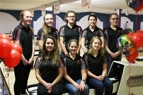 "Girls Varsity Bowling Team ""All-Scholar Athlete Team"""