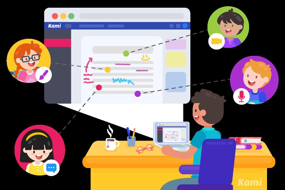 e-learning and hybrid image