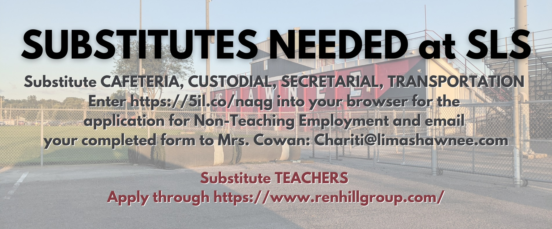 Substitutes needed at SLS