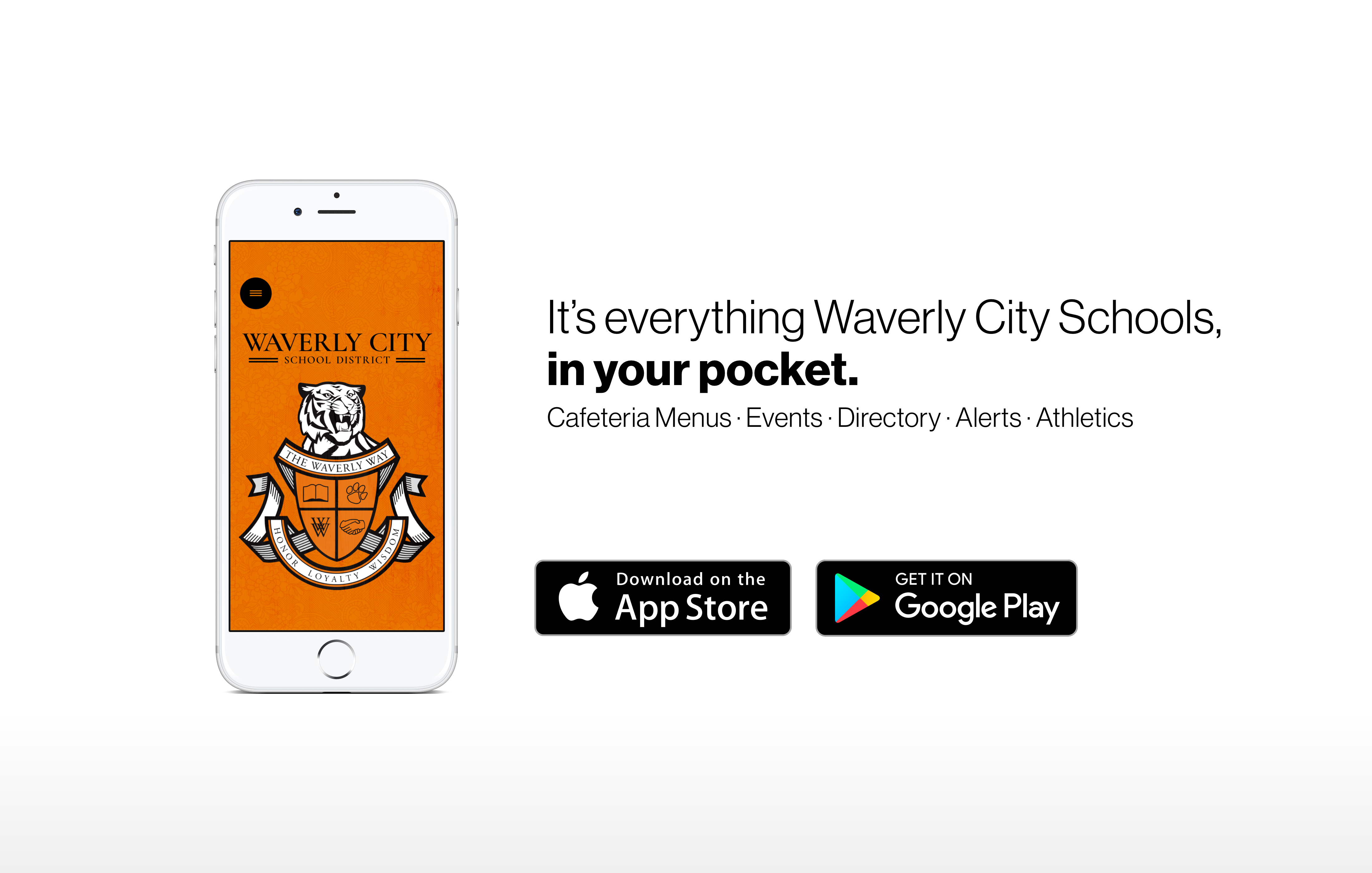 Download our mobile app in the App Store or Google Play Store!