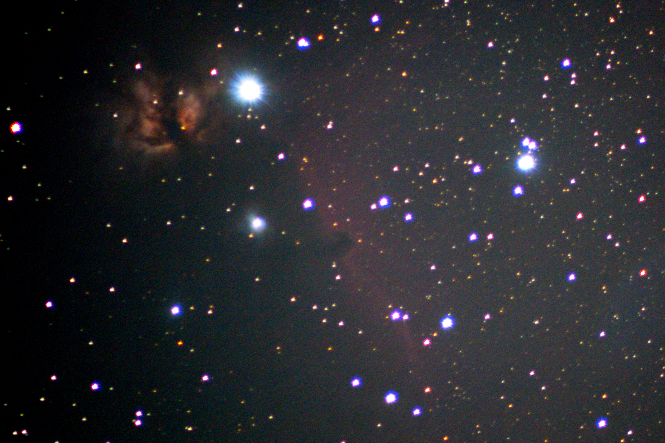 Horsehead Nebula & Flame Nebula-picture copyrighted by Sam Walsh